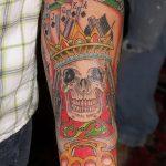Фото тату кастет от 11.09.2018 №034 - tattoo brass knuckles - tatufoto.com