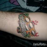 Фото тату кастет от 11.09.2018 №057 - tattoo brass knuckles - tatufoto.com