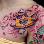 Фото тату кастет от 11.09.2018 №066 - tattoo brass knuckles - tatufoto.com