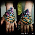 Фото тату кастет от 11.09.2018 №079 - tattoo brass knuckles - tatufoto.com