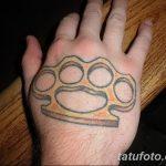 Фото тату кастет от 11.09.2018 №082 - tattoo brass knuckles - tatufoto.com