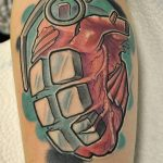 cute brass knuckles tattoo designs Luxury Grenade and brass knu