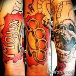 Фото тату кастет от 11.09.2018 №134 - tattoo brass knuckles - tatufoto.com