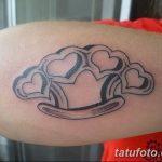 Фото тату кастет от 11.09.2018 №139 - tattoo brass knuckles - tatufoto.com