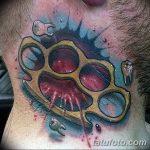 Фото тату кастет от 11.09.2018 №149 - tattoo brass knuckles - tatufoto.com