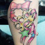 Фото тату кастет от 11.09.2018 №169 - tattoo brass knuckles - tatufoto.com