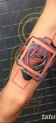 Rose Arm Tattoos Tumblr Abstract Square Rose Tattoo On The Inner