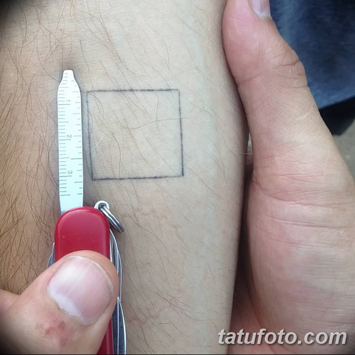 Фото тату квадрат от 15.09.2018 №051 - Square Tattoo - tatufoto.com