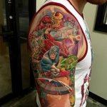 Фото тату комиксы супергерои от 03.09.2018 №084 - tattoos comics superher - tatufoto.com
