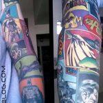 Фото тату комиксы супергерои от 03.09.2018 №110 - tattoos comics superher - tatufoto.com