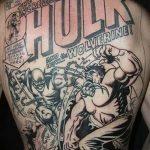 Фото тату комиксы супергерои от 03.09.2018 №192 - tattoos comics superher - tatufoto.com