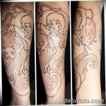 Фото тату контур от 01.09.2018 №015 - Photo tattoo outline - tatufoto.com