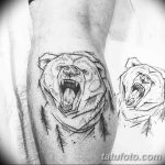 Фото тату контур от 01.09.2018 №019 - Photo tattoo outline - tatufoto.com
