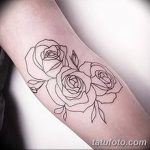 Фото тату контур от 01.09.2018 №054 - Photo tattoo outline - tatufoto.com