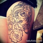 Фото тату контур от 01.09.2018 №074 - Photo tattoo outline - tatufoto.com