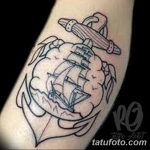 Фото тату контур от 01.09.2018 №090 - Photo tattoo outline - tatufoto.com