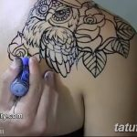 Фото тату контур от 01.09.2018 №114 - Photo tattoo outline - tatufoto.com