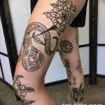 Фото тату контур от 01.09.2018 №180 - Photo tattoo outline - tatufoto.com