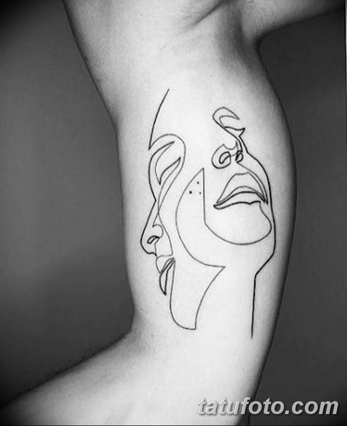 Фото тату линии от 17.09.2018 №003 - line tattoos - tatufoto.com