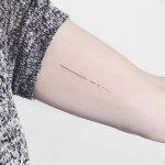 Фото тату линии от 17.09.2018 №034 - line tattoos - tatufoto.com