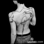 Фото тату линии от 17.09.2018 №280 - line tattoos - tatufoto.com