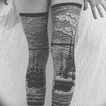Фото тату линии от 17.09.2018 №316 - line tattoos - tatufoto.com