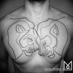 Фото тату линии от 17.09.2018 №343 - line tattoos - tatufoto.com
