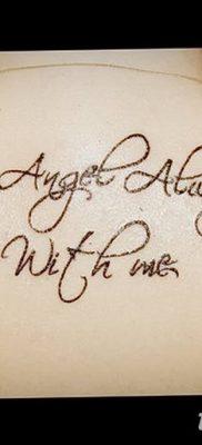 Фото тату мой ангел всегда со мной от 10.09.2018 №029 – my angel is always – tatufoto.com