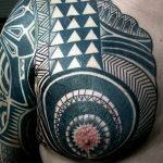 Фото тату полинезия от 24.09.2018 №043 - Polynesia tattoo - tatufoto.com