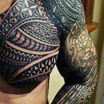 Фото тату полинезия от 24.09.2018 №050 - Polynesia tattoo - tatufoto.com