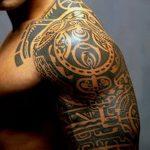 Фото тату полинезия от 24.09.2018 №056 - Polynesia tattoo - tatufoto.com