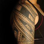 Фото тату полинезия от 24.09.2018 №071 - Polynesia tattoo - tatufoto.com