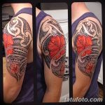 Polynesian Tattoo With Flowers Polynesian Tribal Tattoos, Polyne