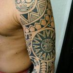 Фото тату полинезия от 24.09.2018 №088 - Polynesia tattoo - tatufoto.com