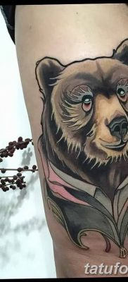 Фото тату с медведем от 12.09.2018 №115 – tattoo with a bear – tatufoto.com
