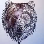 Фото тату с медведем от 12.09.2018 №120 - tattoo with a bear - tatufoto.com