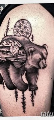 Фото тату с медведем от 12.09.2018 №124 – tattoo with a bear – tatufoto.com