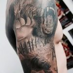Фото тату с медведем от 12.09.2018 №127 - tattoo with a bear - tatufoto.com