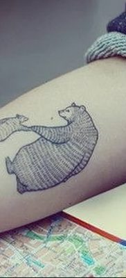 Фото тату с медведем от 12.09.2018 №130 – tattoo with a bear – tatufoto.com