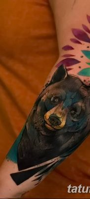 Фото тату с медведем от 12.09.2018 №136 – tattoo with a bear – tatufoto.com