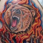 Фото тату с медведем от 12.09.2018 №138 - tattoo with a bear - tatufoto.com