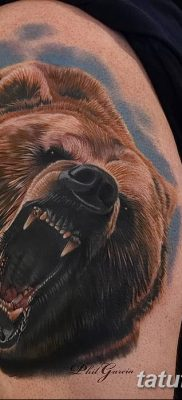 Фото тату с медведем от 12.09.2018 №147 – tattoo with a bear – tatufoto.com