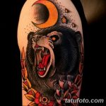 Фото тату с медведем от 12.09.2018 №155 - tattoo with a bear - tatufoto.com