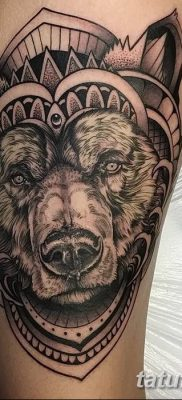 Фото тату с медведем от 12.09.2018 №178 – tattoo with a bear – tatufoto.com