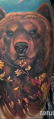 Фото тату с медведем от 12.09.2018 №201 – tattoo with a bear – tatufoto.com