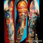 Фото тату ядерный взрыв (гриб) от 01.09.2018 №003 tattoo nuclear explosion - tatufoto.com