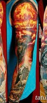 Фото тату ядерный взрыв (гриб) от 01.09.2018 №003 tattoo nuclear explosion – tatufoto.com