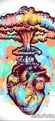 Фото тату ядерный взрыв (гриб) от 01.09.2018 №017 tattoo nuclear explosion – tatufoto.com