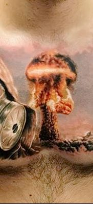 Фото тату ядерный взрыв (гриб) от 01.09.2018 №021 tattoo nuclear explosion – tatufoto.com