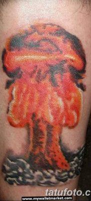 Фото тату ядерный взрыв (гриб) от 01.09.2018 №023 tattoo nuclear explosion – tatufoto.com